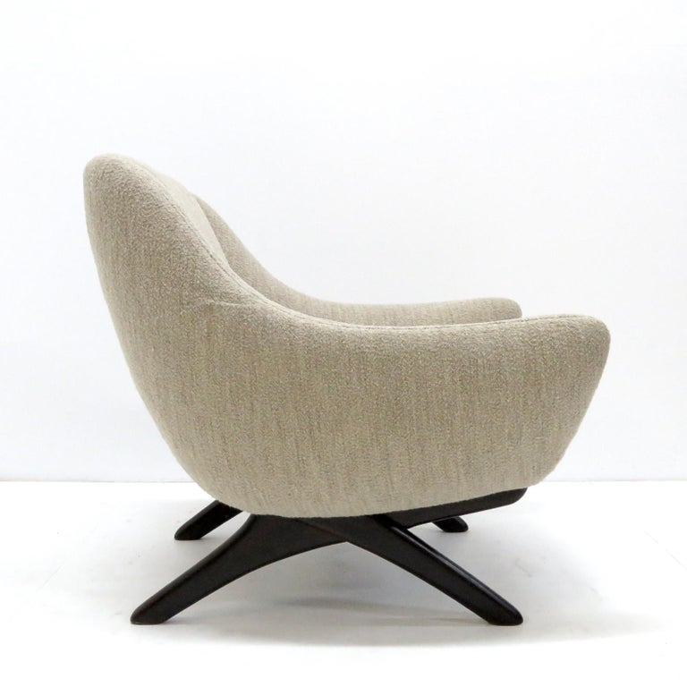 Illum Wikkelso ML-90 Armchair, 1960s In Good Condition For Sale In Los Angeles, CA