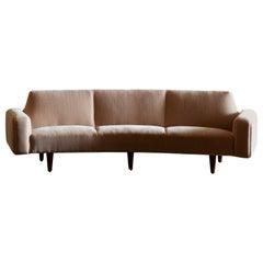 Illum Wikkelso Model 450 Curved Sofa, Denmark, 1960s