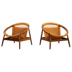 "Illum Wikkelso ""Ringstol"" Lounge Chairs"