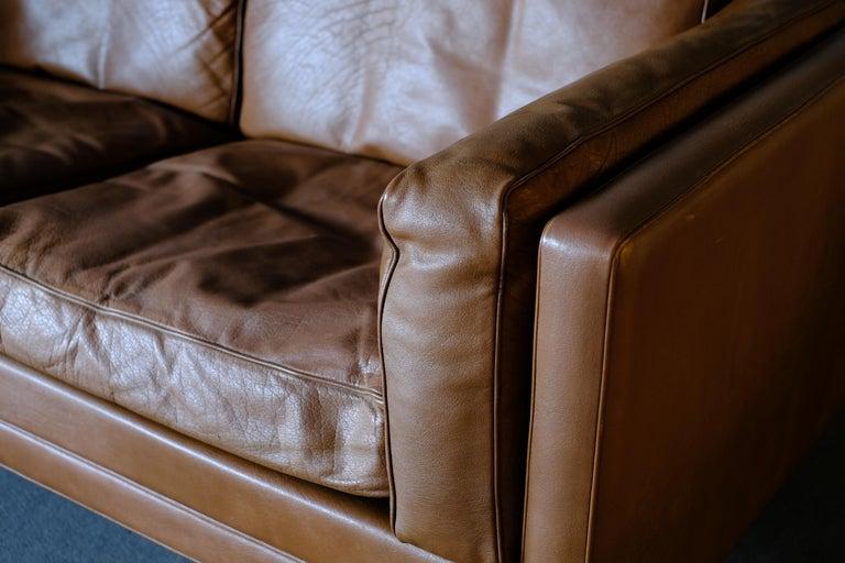 Leather Illum Wikkelso Sofa by Holgar Christensen For Sale