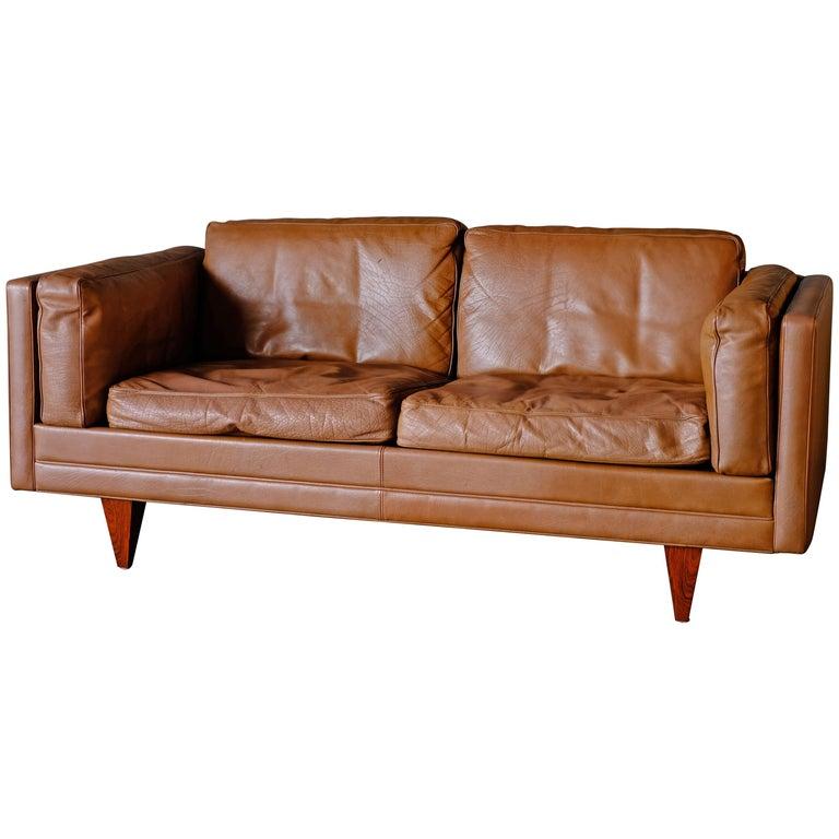 Illum Wikkelso Sofa by Holgar Christensen For Sale