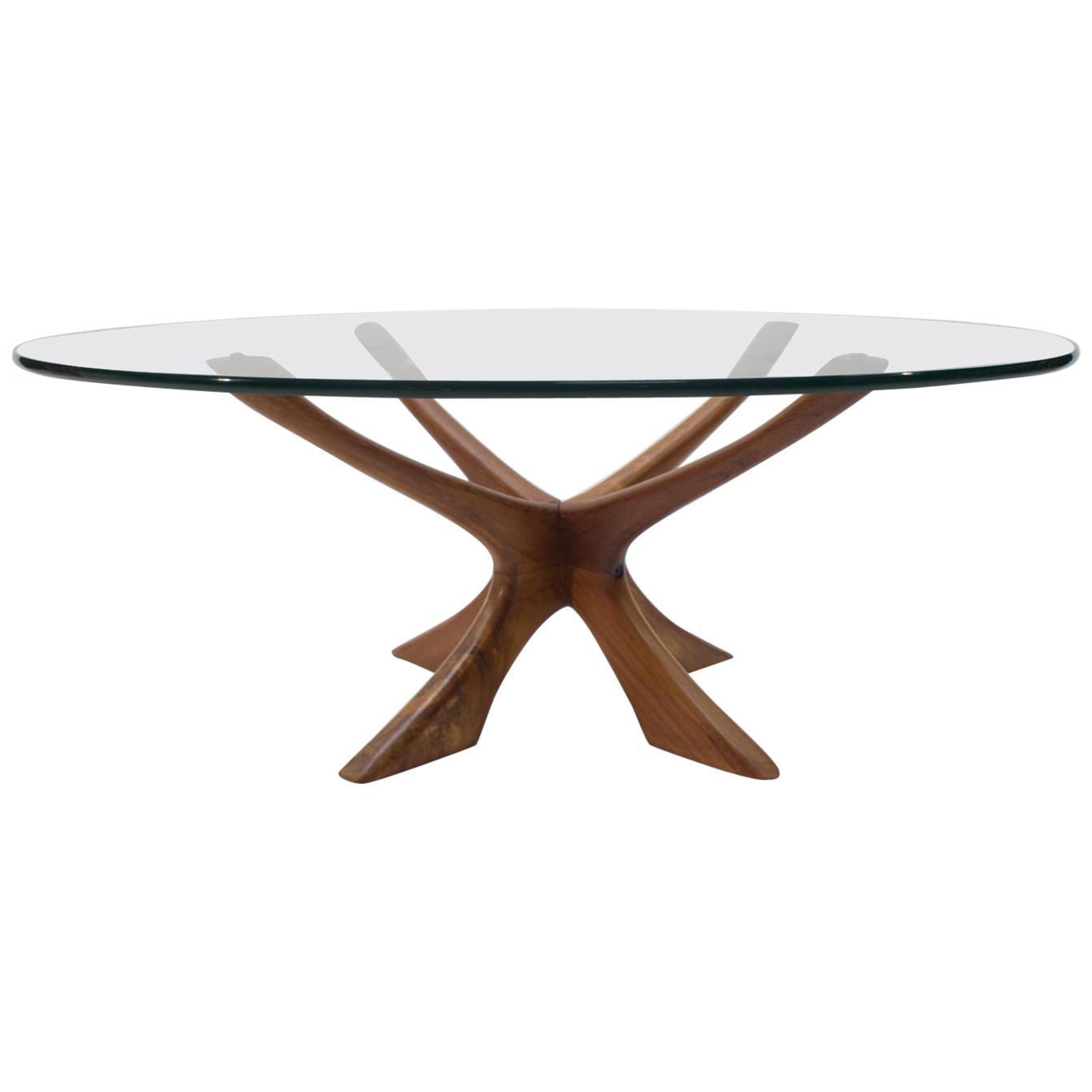 Illum Wikkelso T118 Teak Coffee Table, 1960s Denmark
