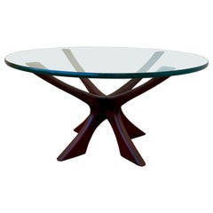 Illum Wikkelso T118 Walnut Danish Modern Coffee Table, Denmark