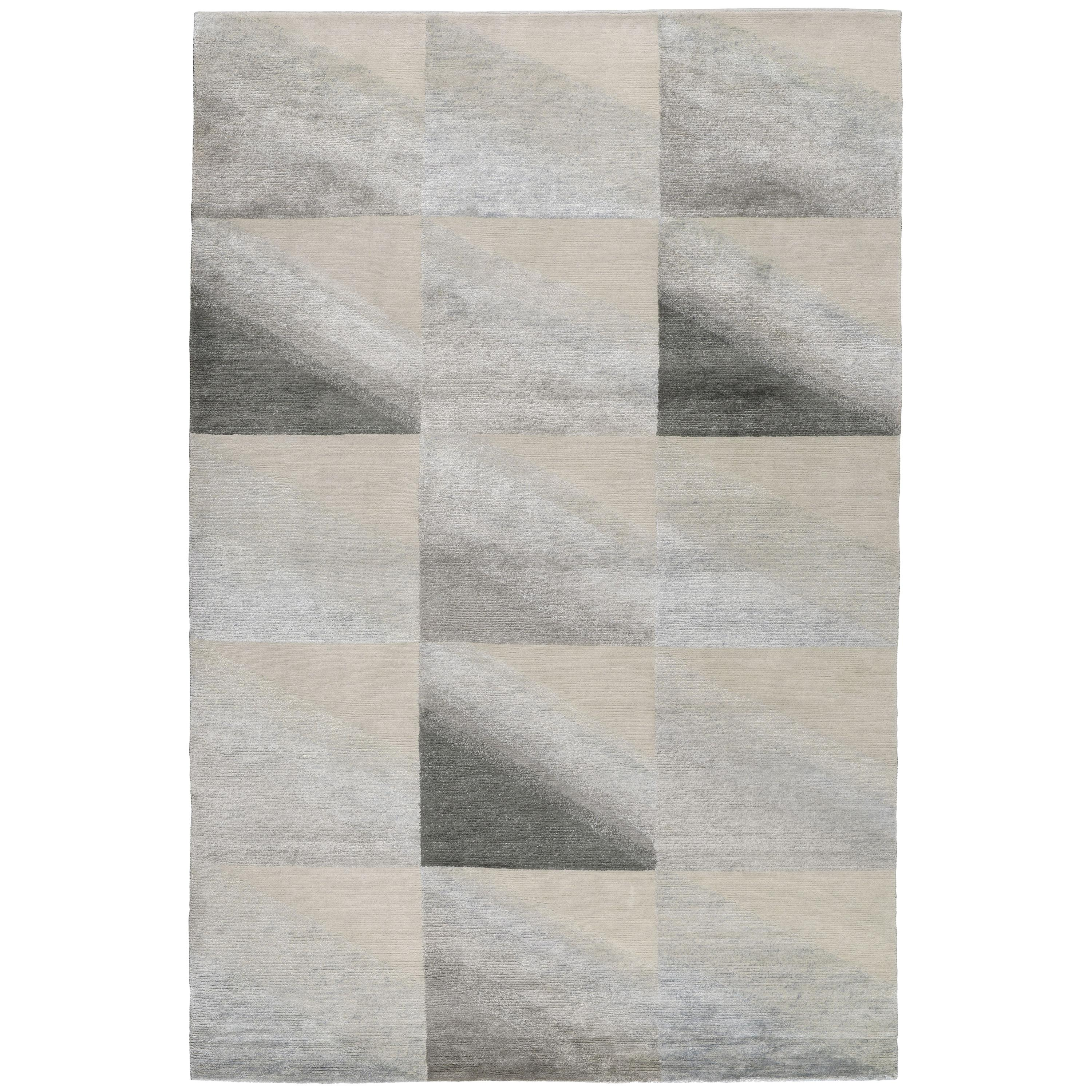 Illumé Hand-Knotted 10x8 Rug in Wool and Silk by Kelly Wearstler