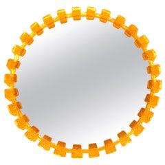 Illuminated Acrylic Resin Round Mirror