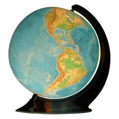 Illuminated Art Deco Glass Globe by Oestergaard, Columbus