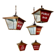 Illuminated Copper Tavern Signs from England, circa 1920
