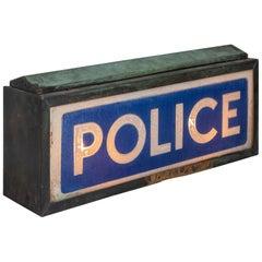 Illuminated Police Sign, England, circa 1930