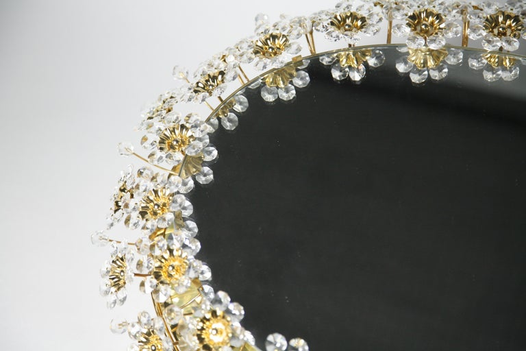Mid 20th century Illuminated Swarovski Crystal, Palwa Mirror, Germany, 1970s For Sale 12