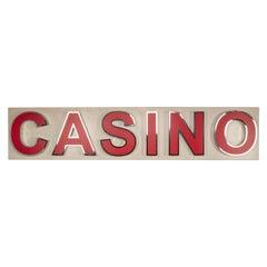 Illuminating Casino Advertising Sign, circa 1970