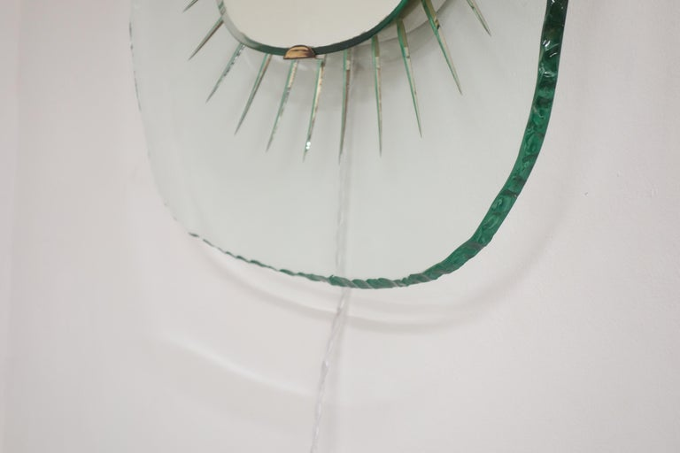 Illuminating Glass Mirror Model 1657 by Max Ingrand, Ed. Fontana Arte circa 1958 In Good Condition For Sale In Paris, FR