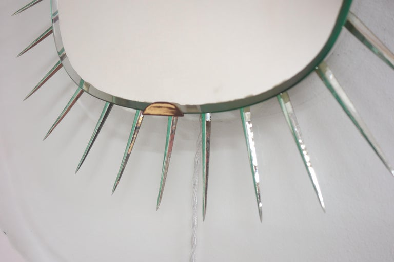 Mid-20th Century Illuminating Glass Mirror Model 1657 by Max Ingrand, Ed. Fontana Arte circa 1958 For Sale