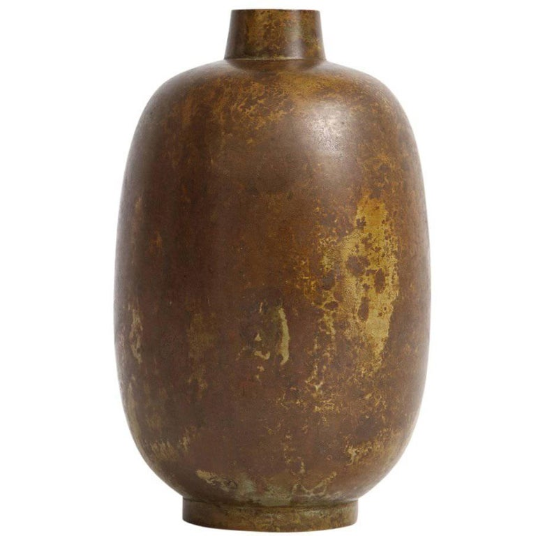 Illums Bolighus bronze vase, 1960s, offered by Solo Modern