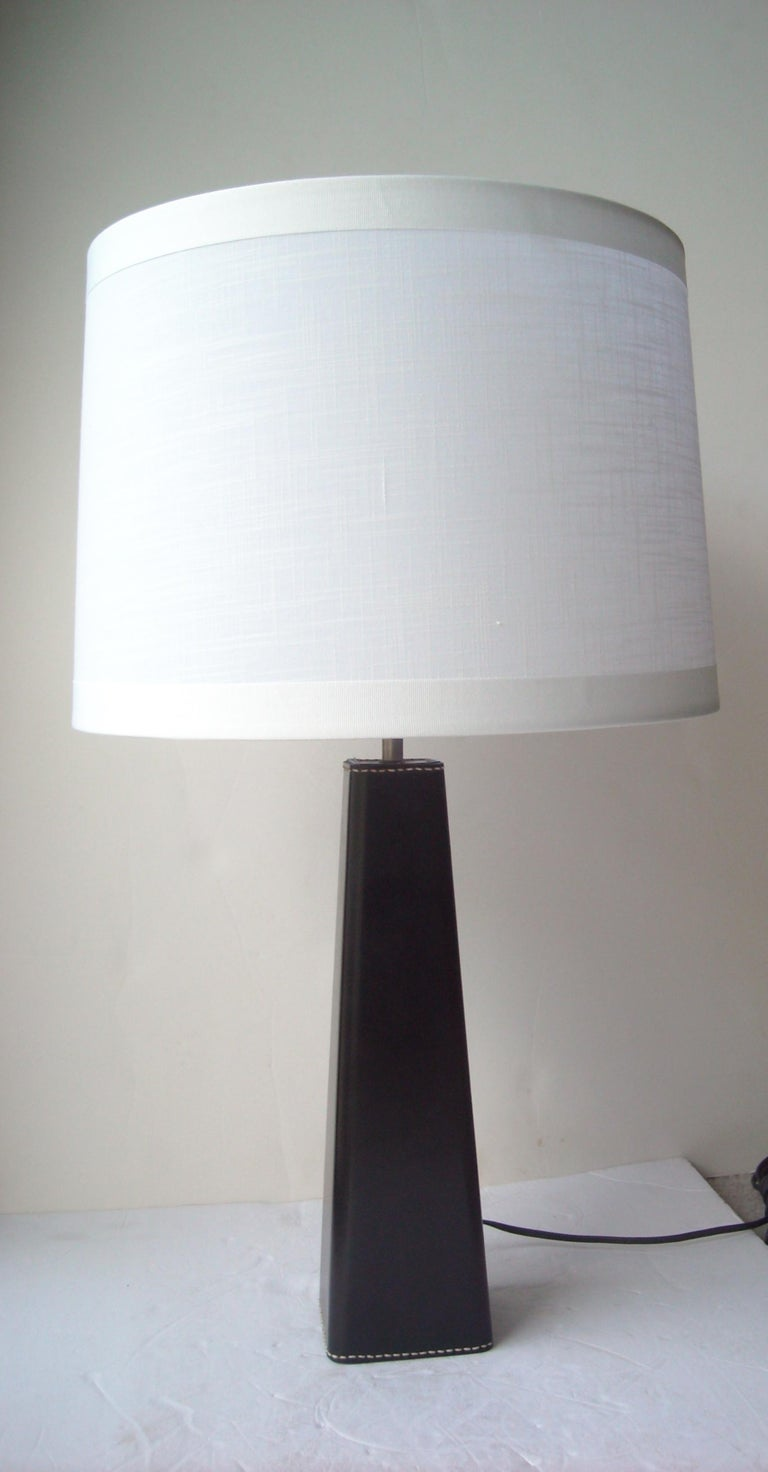 Mid-20th Century Illums Bolighus Leather Table Lamp Designed by Lisa Johansson Pape, Denmark For Sale