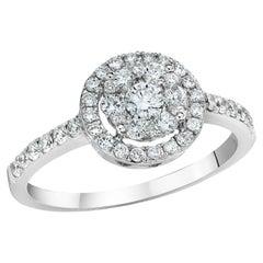 Illusion Round Diamond Halo Ring
