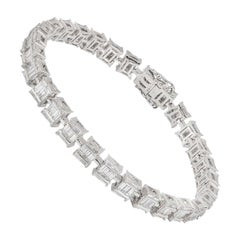 Illusion Set Diamond Tennis Bracelet 4.22 Carat