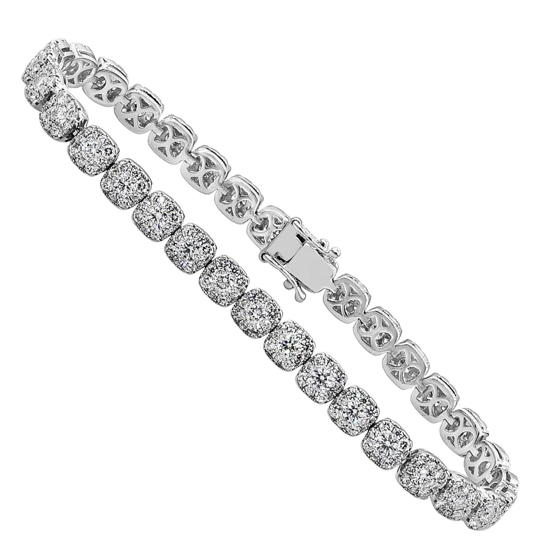 Roman Malakov Illusion Set Diamond Tennis Bracelet