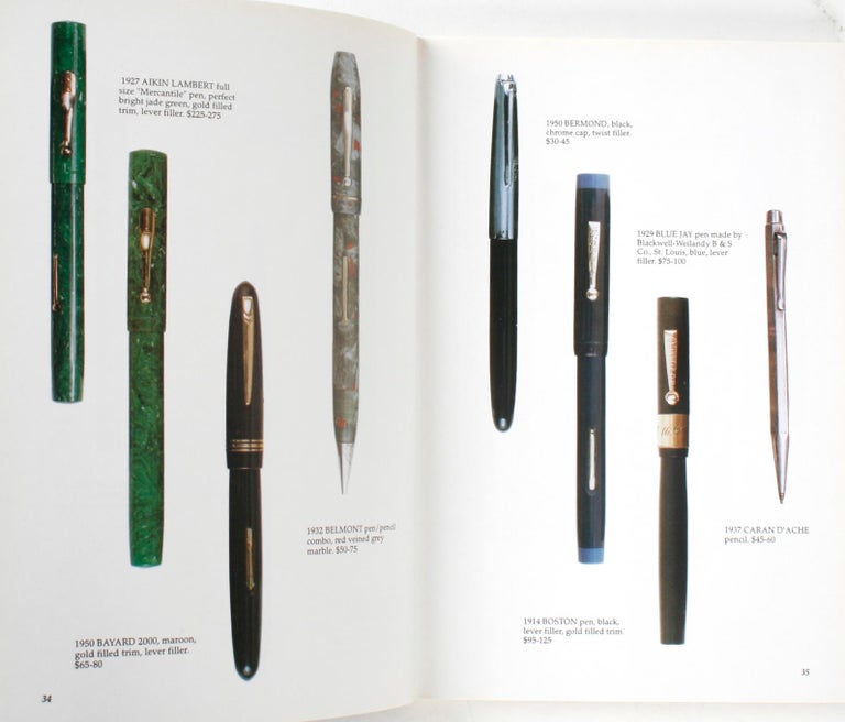 American Illustrated Guide to Antique Writing Instruments by George Fischler, 1st Edition For Sale