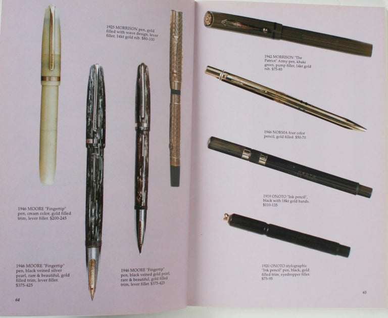 Illustrated Guide to Antique Writing Instruments by George Fischler, 1st Edition In Excellent Condition For Sale In valatie, NY