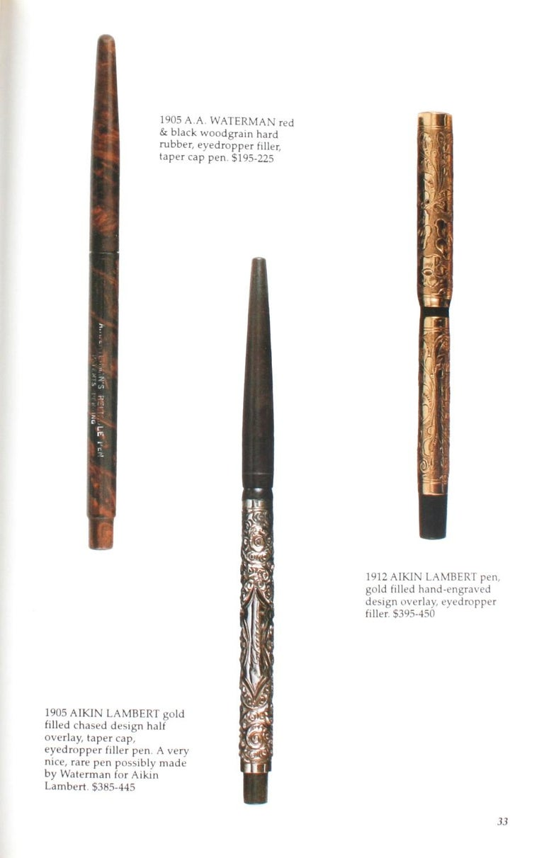 Paper Illustrated Guide to Antique Writing Instruments by George Fischler, 1st Edition For Sale