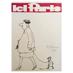 Illustration by Guy Georget, 'Ice Paris' from 1962, Original Vintage Poster