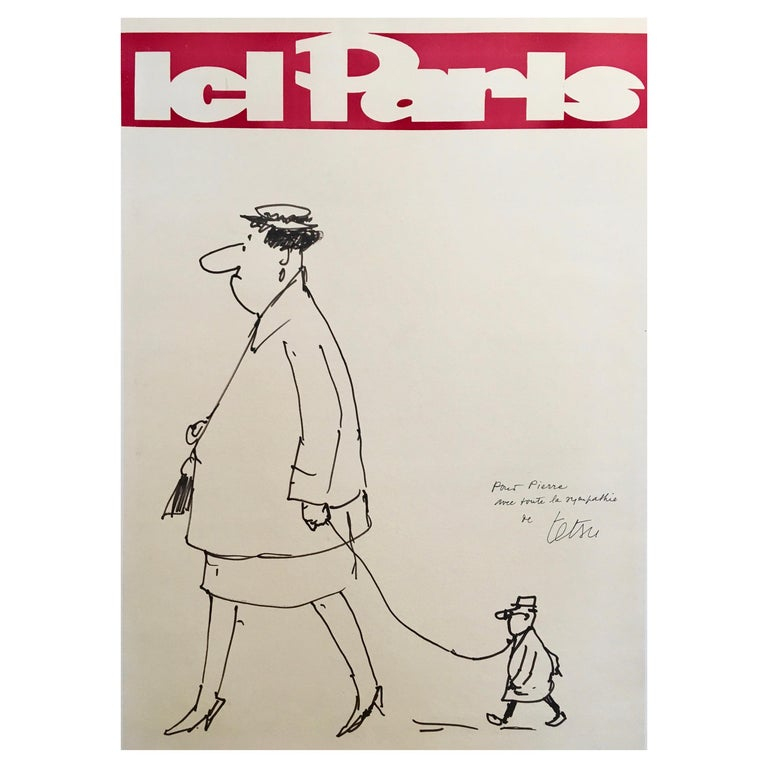 Illustration by Guy Georget, 'Ice Paris' from 1962, Original Vintage Poster For Sale