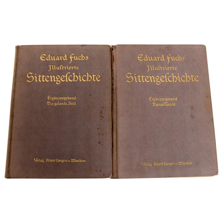 Illustrierte Sittengeschichte, Die Galante Zeit/Ergänzungsband Volumes 1 and 2 For Sale