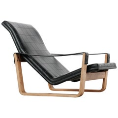 Ilmari Lappalainen Great Senior Pulkka Lounge Chair, 1967 for Asko, Finland