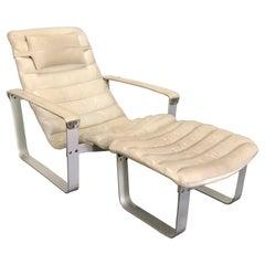 Ilmari Lappalainen Leather Lounge Chair and Ottoman