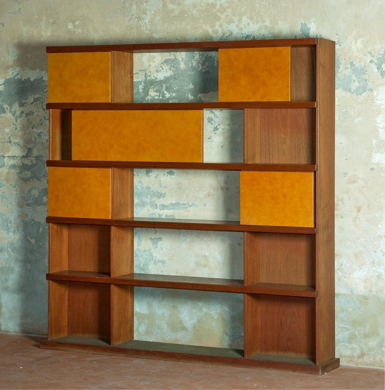 Rare bookcase manufactured by La Permanente Mobili Cantù.