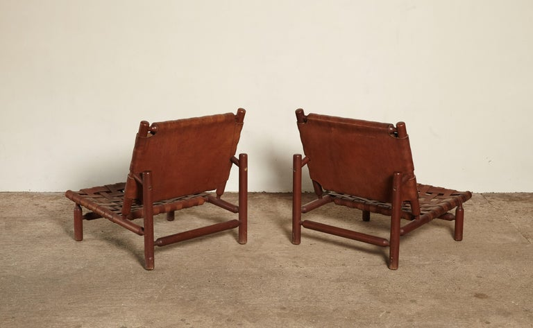 Ilmari Tapiovaara Chairs and Ottoman, Finland or Italy, 1950s For Sale 1