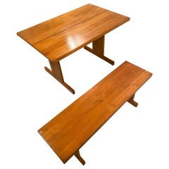 Ilmari Tapiovaara Dining Room Table with Bench