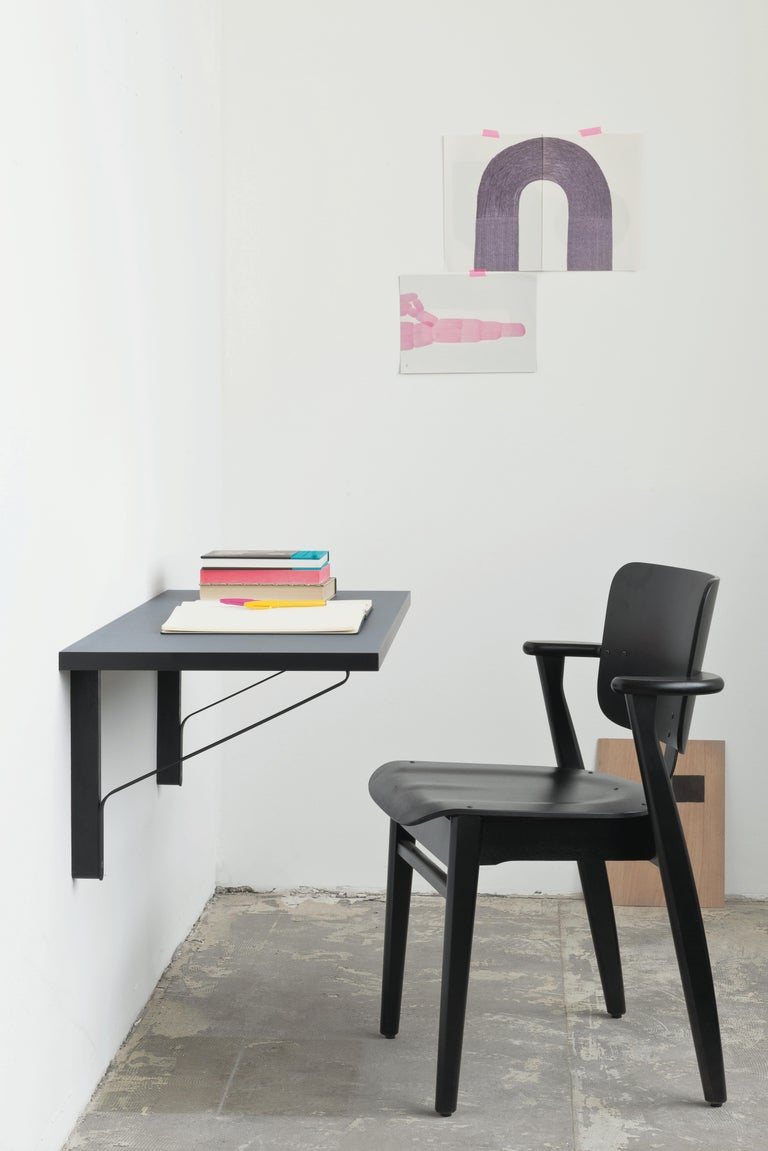 Ilmari Tapiovaara Domus Chair in Black Birch and Leather for Artek For Sale 3