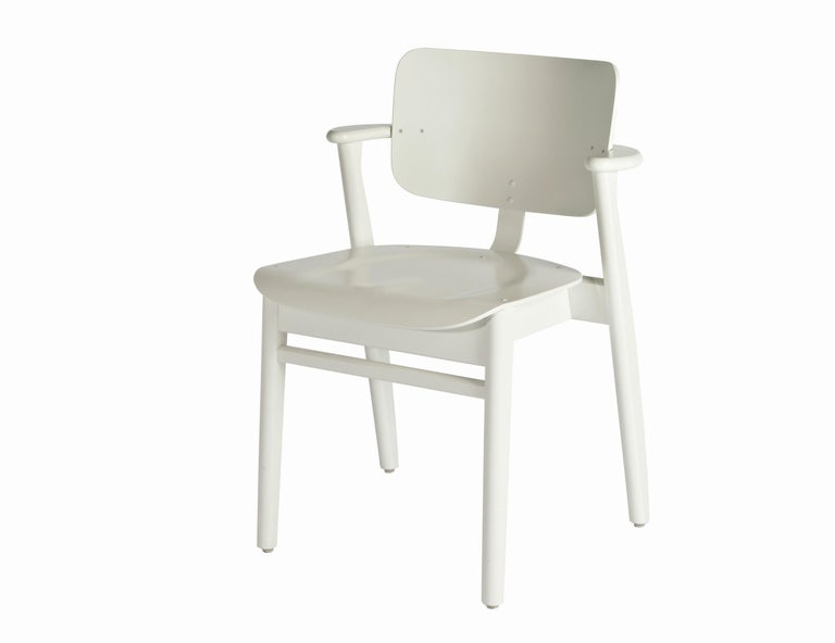 Ilmari Tapiovaara Domus Chair in Black Birch and Leather for Artek For Sale 11
