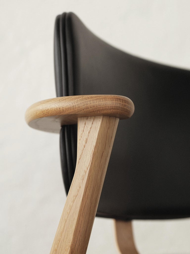 Ilmari Tapiovaara Domus Chair in Black Birch and Leather for Artek In New Condition For Sale In Glendale, CA