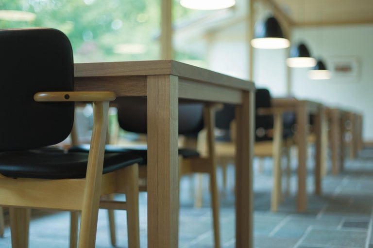 Ilmari Tapiovaara Domus Chair in Black Stained Birch for Artek For Sale 13