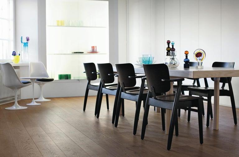 Ilmari Tapiovaara Domus Chair in Black Stained Birch for Artek In New Condition For Sale In Glendale, CA