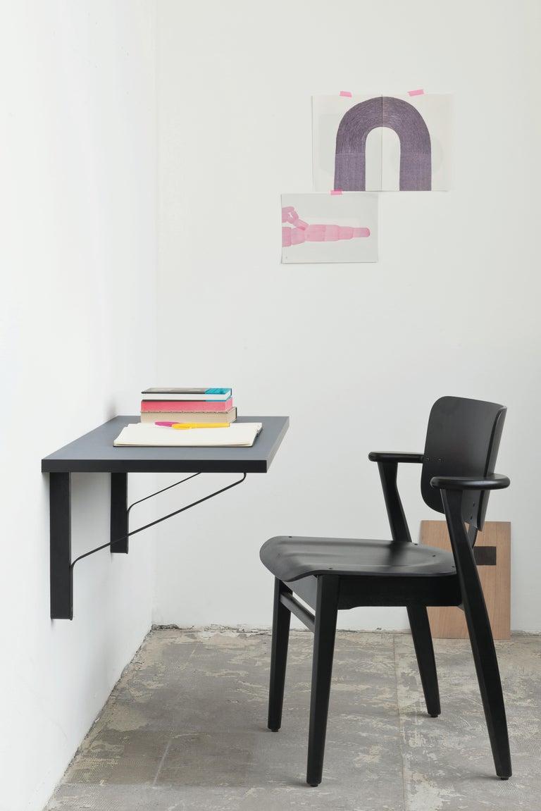 Contemporary Ilmari Tapiovaara Domus Chair in Black Stained Birch for Artek For Sale