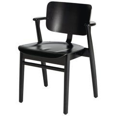 Ilmari Tapiovaara Domus Chair in Black Stained Birch for Artek