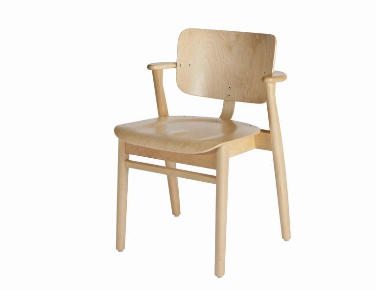 Ilmari Tapiovaara Domus Chair in Honey Stained Birch for Artek For Sale 2