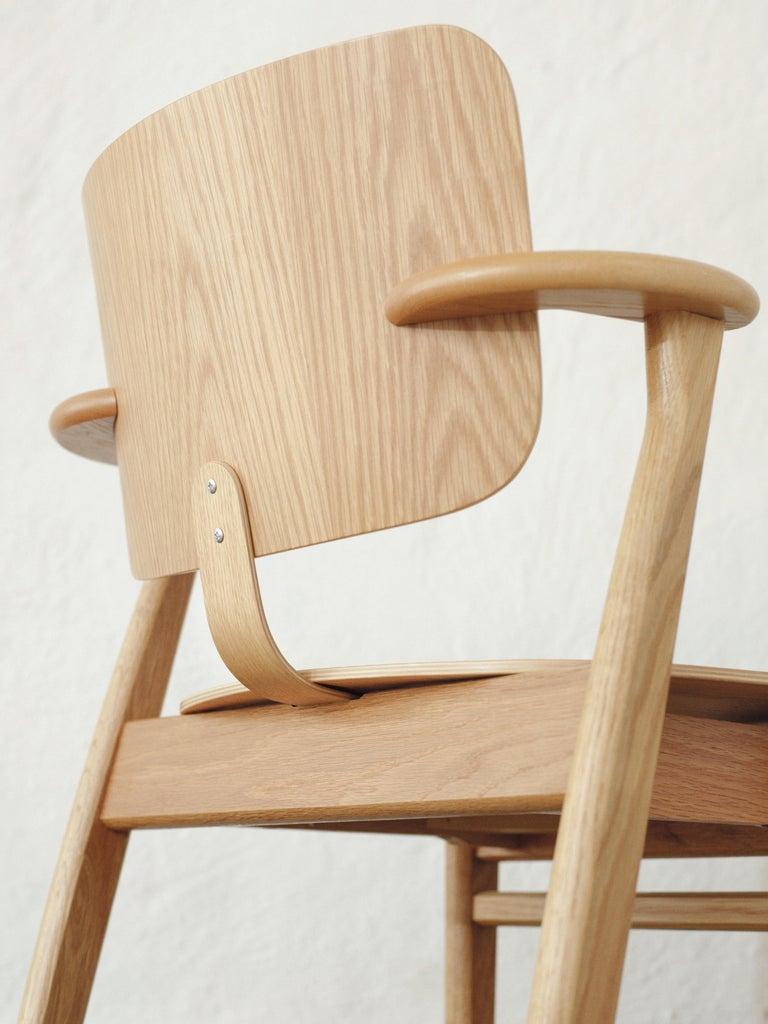 Ilmari Tapiovaara Domus Chair in Honey Stained Birch for Artek For Sale 3