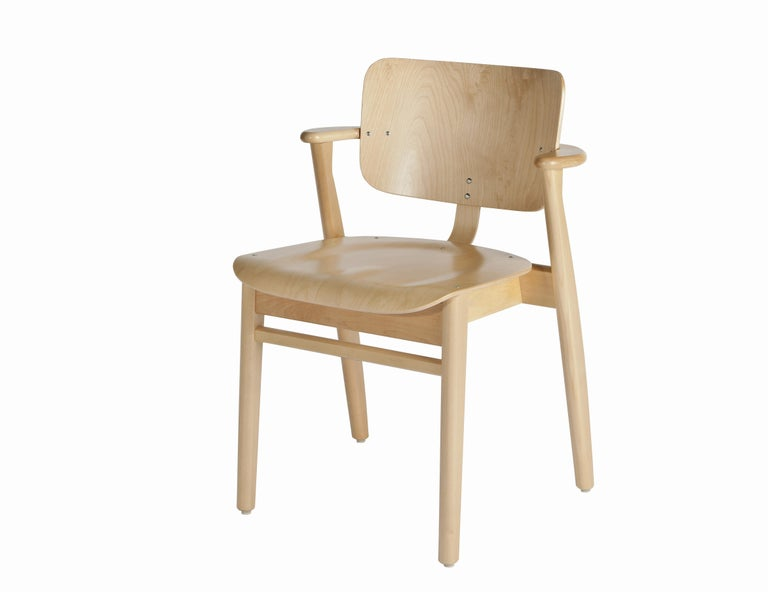 Ilmari Tapiovaara Domus Chair in White Lacquered Birch for Artek In New Condition For Sale In Glendale, CA