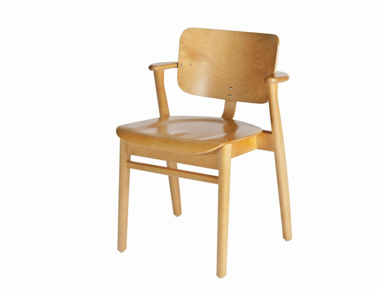 Ilmari Tapiovaara Domus Chair in White Lacquered Birch for Artek For Sale 3