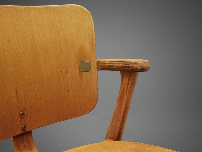 Scandinavian Modern Ilmari Tapiovaara 'Domus' Dining Chairs in Birch For Sale