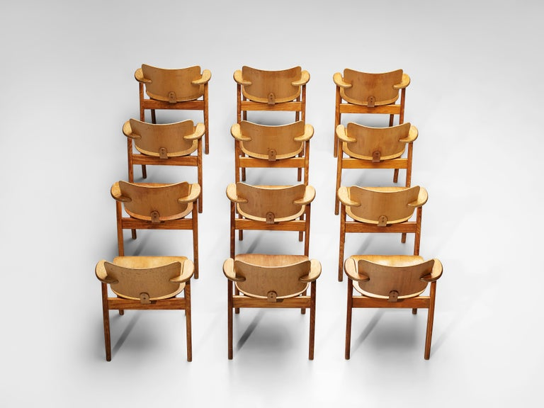 Finnish Ilmari Tapiovaara 'Domus' Dining Chairs in Birch For Sale