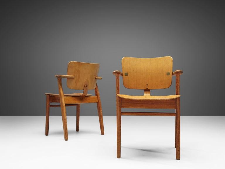 Ilmari Tapiovaara 'Domus' Dining Chairs in Birch In Good Condition For Sale In Waalwijk, NL