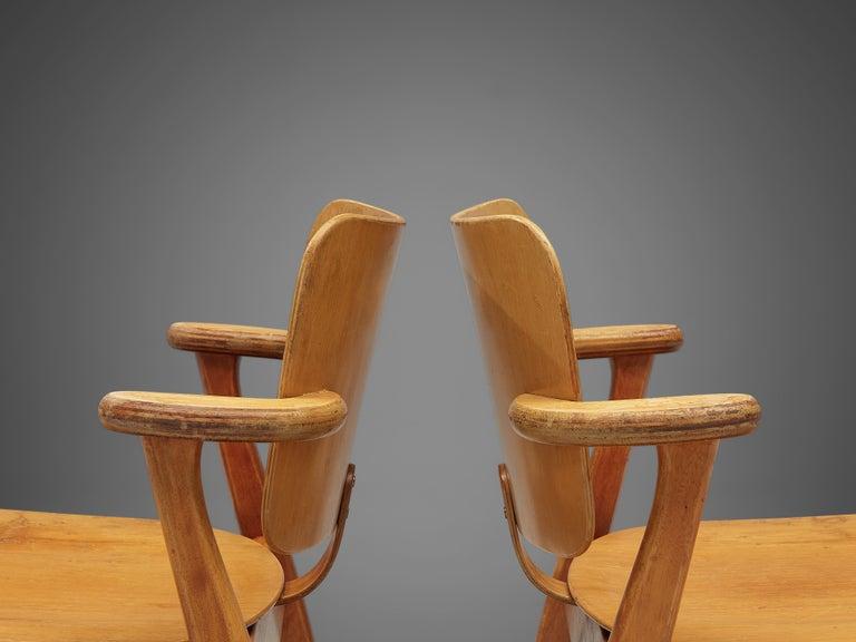 Metal Ilmari Tapiovaara 'Domus' Dining Chairs in Birch For Sale
