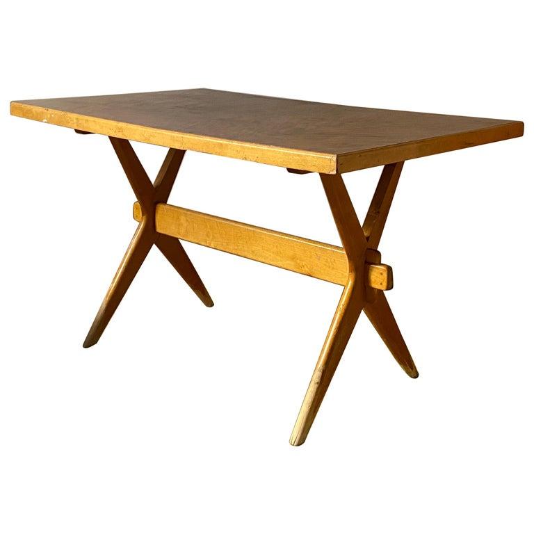 Ilmari Tapiovaara, Early Demountable Desk or Console, Birch, Finland, 1950s For Sale