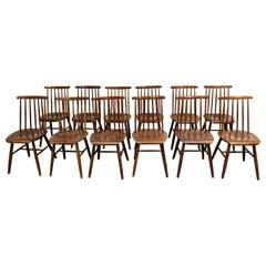 Ilmari Tapiovaara Fanett Dining Chairs, 1950s