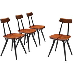 Ilmari Tapiovaara for Laukaan Puu Set of Four 'Pirkka' Chairs